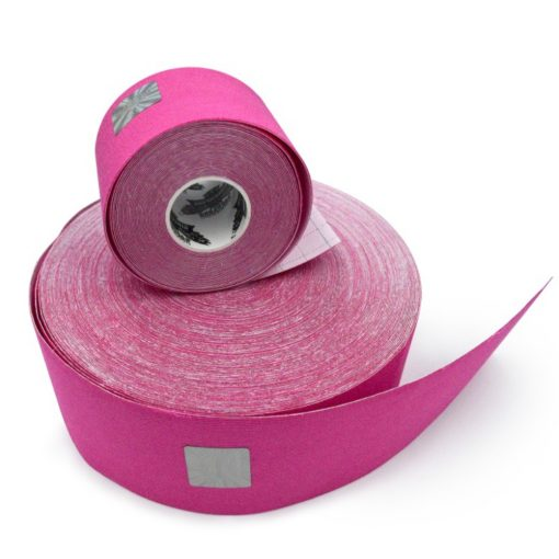 07 Bandă kinesiologică Bumbac roz.